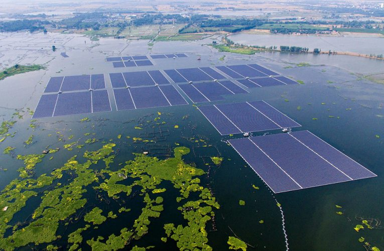 Adding floating solar panels to bodies of water