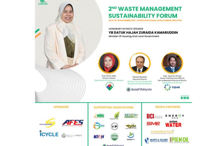 2ND Waste Management Sustainability Forum 2021 To Be Held in Kuala Lumpur This September